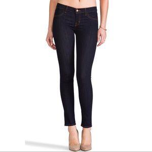 J Brand Midrise Super Skinny Jeans In Starless